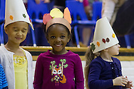 "Middletown, New York - Preschool and pre-K students perform in ""YMCA Thanksgiving Day Spectacular"" on the stage at the Center for Youth Programs on Nov. 27, 2013."