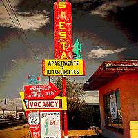 Retro roadside sign in usa