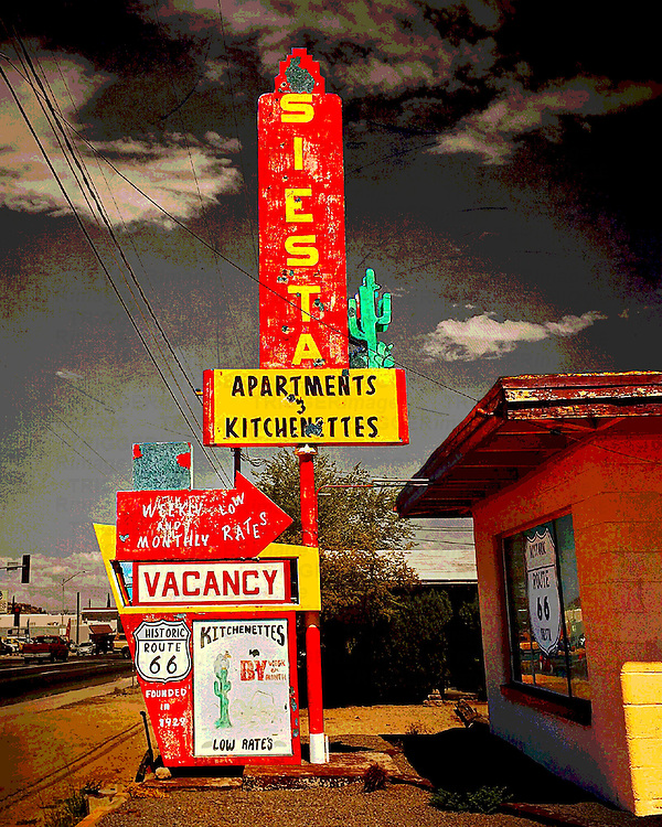 Retro roadside sign in usa