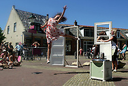 THE NETHERLANDS-TERSCHELLING-  Oerolfestival. 'Drie Naakte Mannen'. PHOTO: GERRIT DE HEUS.Foto: Gerrit de Heus. Terschelling. 18/06/05. Oerolfestival. 'Drie Naakte Mannen'