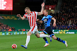 Ryan Shawcross of Stoke City is chased by Harry Kane of Tottenham Hotspur  - Mandatory by-line: Matt McNulty/JMP - 18/04/2016 - FOOTBALL - Britannia Stadium - Stoke, England - Stoke City v Tottenham Hotspur - Barclays Premier League