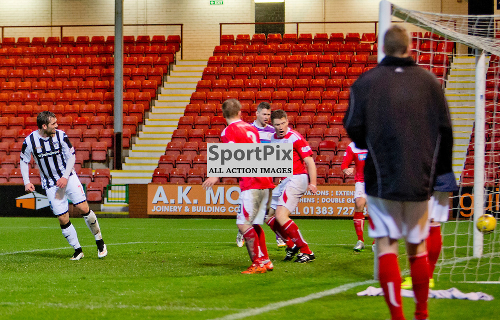 Dunfermline Athletic v Brechin City SPFL League One Season 2015/16 East End Park 05 December 2015<br /> Michael Paton makes it 2-0<br /> CRAIG BROWN | sportPix.org.uk