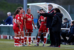 Willie Kirk manager of Bristol City Women talks to his players - Mandatory by-line: Robbie Stephenson/JMP - 02/01/2012 - FOOTBALL - Stoke Gifford Stadium - Bristol, England - Bristol City Women v Aston Villa Ladies - FA Women's Super League 2