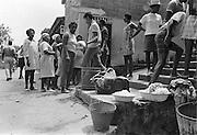 Människor i byn Blanchisseuse, Trinidad.