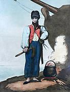Ship's Carpenter, 1799.  Print by Thomas Rowlandson (1756-1827). Aquatint.