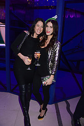 Left to right, AMY MOLYNEAUX and CHARLIE HAYES JONES  at a party to celebrate 25 years of John Frieda held at Claridge's, Brook Street, London on 29th October 2013.
