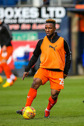 Luton Town forward Kazenga LuaLua (25) warms up  during the EFL Sky Bet League 1 match between Luton Town and Doncaster Rovers at Kenilworth Road, Luton, England on 23 March 2019.
