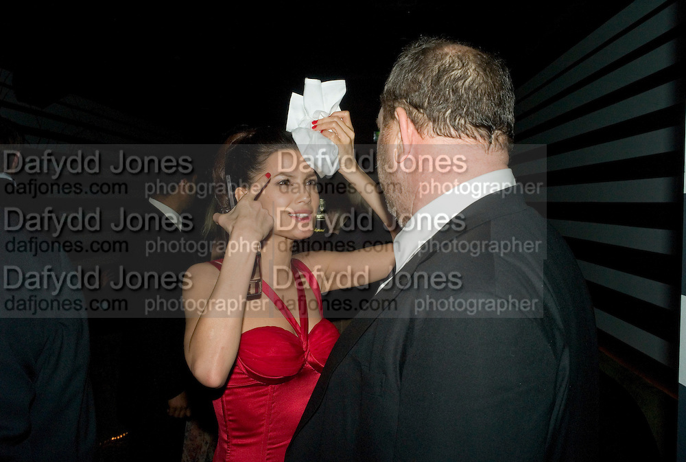 Natassia Scarlet Malthe and Harvey Weinstein, Weinstein Bafta after-party in association with Chopard. Bungalow 8. London. 10  February 2008.  *** Local Caption *** -DO NOT ARCHIVE-© Copyright Photograph by Dafydd Jones. 248 Clapham Rd. London SW9 0PZ. Tel 0207 820 0771. www.dafjones.com.