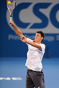 Brisbane, Australia, December 30: Bernard Tomic of Australia during a training session at Pat Rafter Arena ahead of the 2012 Brisbane International Tennis Tournament in Brisbane, Australia on Friday December 30th, 2011. (Photo: Matt Roberts/Photo News)