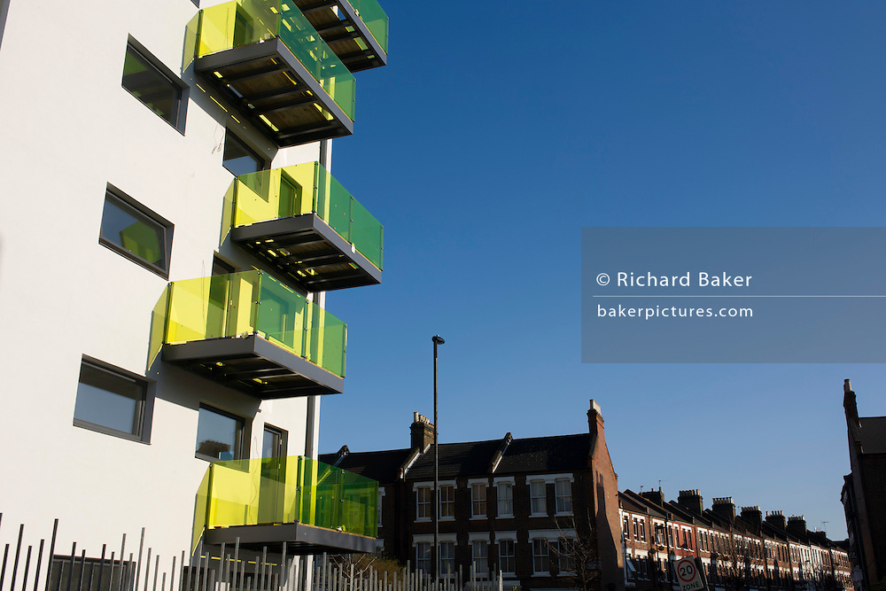 New apartments in a block developed by Skanska in Coldharbour Lane in Camberwell, Lambeth, South London
