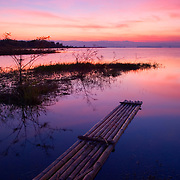 The Srinakarin Lake at Sunrise in Thailand
