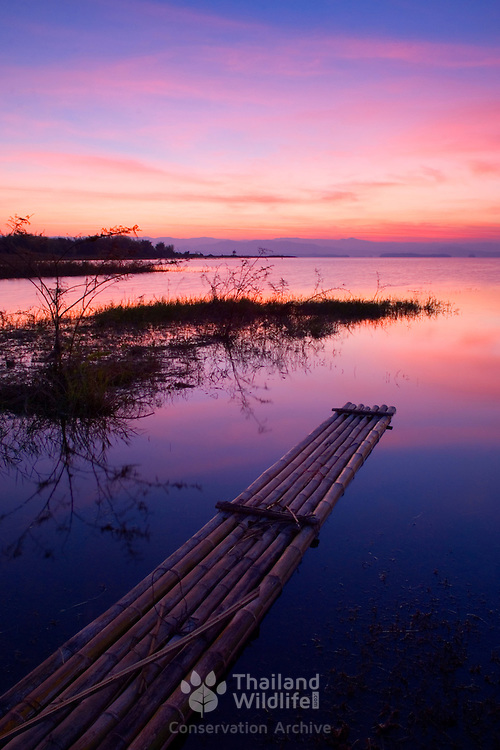 The Srinakarin Lake at Sunrise in Thailand
