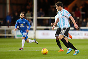 Shrewsbury Town FC forwward Scott Vernon on the ball during the Sky Bet League 1 match between Peterborough United and Shrewsbury Town at the ABAX Stadium, Peterborough, England on 12 December 2015. Photo by Aaron Lupton.
