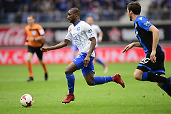 January 28, 2018 - Gent, belgiQUE - GENT, BELGIUM - JANUARY 28 : Mamadou Sylla forward of KAA Gent is attacking during the Jupiler Pro League match between KAA Gent and Club Brugge at the Ghelamco Arena on January 28, 2018 in Gent, Belgium , 28/01/2018 (Credit Image: © Panoramic via ZUMA Press)