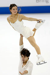 Joy Weinberg and Maximiliano Fernandez perform during the championship pairs free skate competition at the U.S. Figure Skating Championships Saturday, Jan. 21, 2017, in Kansas City, Mo. (AP Photo/Colin E. Braley)