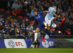 February 24, 2019 - London, England, United Kingdom - Chelsea's Pedro.during during Carabao Cup Final between Chelsea and Manchester City at Wembley stadium , London, England on 24 Feb 2019. (Credit Image: © Action Foto Sport/NurPhoto via ZUMA Press)