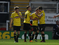 Burton Albion's Matthew Palmer celebrates the second goal- - Photo mandatory by-line: Matt Bunn/JMP - Tel: Mobile: 07966 386802 10/11/2013 - SPORT - FOOTBALL - Pirelli Stadium - Burton upon Trent - Burton Albion v Hereford United - FA Cup