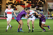 Hull Kingston Rovers loose forward Kyle Trout (17) tries to break through during the Betfred Super League match between Hull Kingston Rovers and Huddersfield Giants at the Hull College Craven Park  Stadium, Hull, United Kingdom on 21 February 2020.