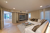 Television area of Palm Springs home
