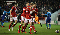 Football - 2017 / 2018 FA Cup - Third Round: Nottingham Forest vs. Arsenal<br /> <br /> Kieran Dowell of Nottingham Forrest celebrates scoring a penalty  at the City Ground.<br /> <br /> COLORSPORT/LYNNE CAMERON