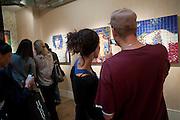 SIBLINGS; ALEXANDER BARTSCH; TAMARA BARTSCH, Gallerygoers encouraged to view the work through their cellphones.- low fidelity invader. Lazarides. 11 rathbone place. w1t 1HR
