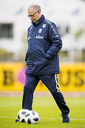June 1, 2018 - Reykjavik, ICELAND - 180601 Lars Lagerbäck, head coach of Norway, during a training session on June 01, 2018 in Reykjavik..Photo: Fredrik Varfjell / BILDBYRÃ…N / kod FV / 150104 (Credit Image: © Fredrik Varfjell/Bildbyran via ZUMA Press)