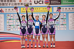 China Chongming Liv are the best ranked Asian team at Tour of Chongming Island - Stage 3. A 111.6km road race on Chongming Island, China on 7th May 2017.