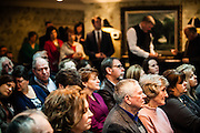 People gather for an event celebrating gigabit internet in McKey, Kentucky, featuring speeches by FCC chairman Tom Wheeler and U. S. Rep. Hal Rogers (R-KY).