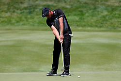 June 22, 2018 - Cromwell, CT, U.S. - CROMWELL, CT - JUNE 22: Bryson DeChambeau of the United States putts on the 17th green during the Second Round of the Travelers Championship on June 22, 2018, at TPC River Highlands in Cromwell, Connecticut. (Photo by Fred Kfoury III/Icon Sportswire) (Credit Image: © Fred Kfoury Iii/Icon SMI via ZUMA Press)