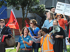 Wellington-ANZ workers strike protest