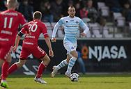 FODBOLD: Patrick Olsen (FC Helsingør) under kampen i NordicBet Ligaen mellem FC Fredericia og FC Helsingør den 10. marts 2019 på Monjasa Park i Fredericia. Foto: Claus Birch