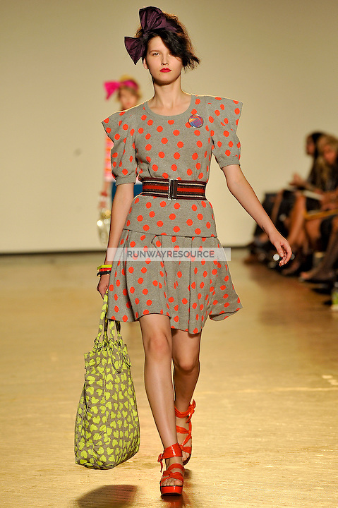 Katlin Aas walks the runway wearing Marc by Marc Jacobs Spring 2010 collection during New York Mercedes-Benz fashion week on September 15, 2009.