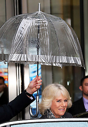 The Duchess of Cornwall  leaving the  BBC at New Broadcasting House in London, Tuesday, 11th February 2014. Picture by Stephen Lock / i-Images