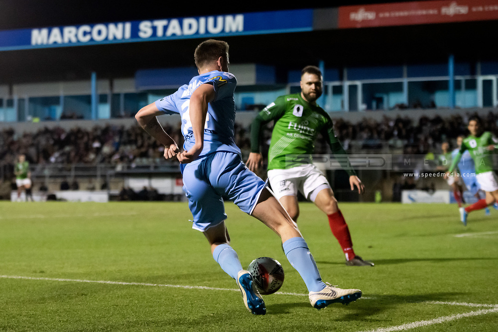SYDNEY, AUSTRALIA - AUGUST 21: Melbourne City player Connor Metcalfe (34) controls the ball during the FFA Cup round of 16 soccer match between Marconi Stallions FC and Melbourne City FC on August 21, 2019 at Marconi Stadium in Sydney, Australia. (Photo by Speed Media/Icon Sportswire)