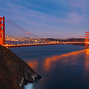 Golden Gate Bridge - Marin Headlands - Dusk Long Exposure