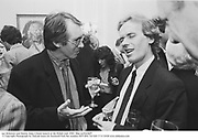 Ian Mckewen and Martin Amis.A book launch at the Polish club 1991. film no91646f7 © Copyright Photograph by Dafydd Jones 66 Stockwell Park Rd. London SW9 0DA Tel 020 7733 0108 www.dafjones.com
