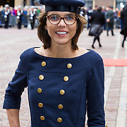 NLD/Den Haag/20130917 -  Prinsjesdag 2013, Carla Dik in gerecycled marine uniform op Prinsjesdag