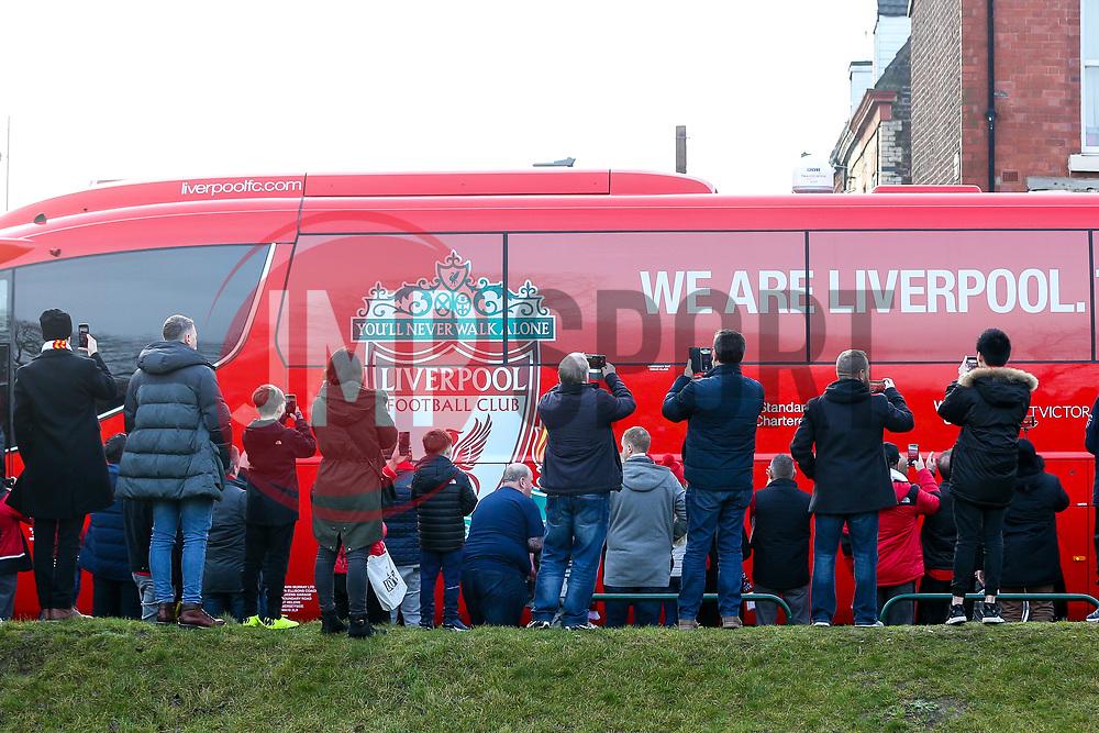 The Liverpool team bus arrives at Anfield - Mandatory by-line: Robbie Stephenson/JMP - 26/12/2018 - FOOTBALL - Anfield - Liverpool, England - Liverpool v Newcastle United - Premier League