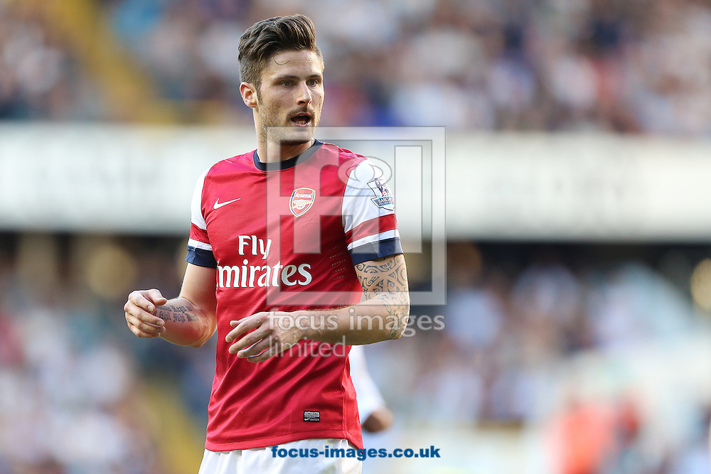 Olivier Giroud of Arsenal during the Barclays Premier League match against Tottenham Hotspur at White Hart Lane, London<br /> Picture by Richard Calver/Focus Images Ltd +447792 981244<br /> 16/03/2014