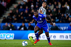 Wes Morgan of Leicester City takes on Jose Salomon Rondon of Newcastle United - Mandatory by-line: Robbie Stephenson/JMP - 12/04/2019 - FOOTBALL - King Power Stadium - Leicester, England - Leicester City v Newcastle United - Premier League