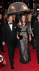Duke and Duchess of Cambridge arriving at the premiere of War Horse in London, Sunday 8th January 2012.  Photo by: Stephen Lock / i-Images