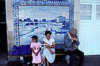Portugal - Azulejos à la gare d'Aveiro