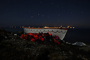 Nov. 19, 2015 - Mytilene, Greece - <br /> <br /> Abandoned refugee boats in Mytilene, Greece<br /> ©Exclusivepix Media