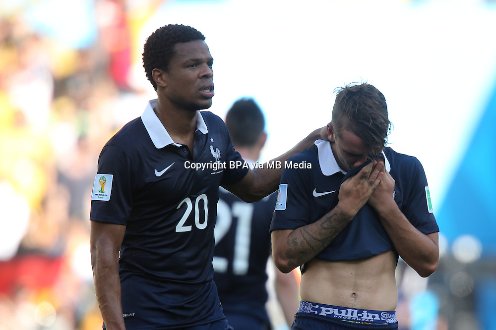 Loic Remy. France v Germany, quarter-final. FIFA World Cup Brazil 2014. 4 July 2014