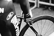 Zdeněk Štybar (EQS) checks his brakes before the start of Il Lombardia 2015 Bergamo - Como