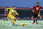 Yeovil Midfielder Jack Compton during the Sky Bet League 2 match between Morecambe and Yeovil Town at the Globe Arena, Morecambe, England on 16 January 2016. Photo by Pete Burns.