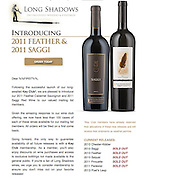 Images of Long Shadows Vintners 2011 Saggi and Feather.