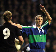2004_'The Gartmore Challenge' - Barbarians_vs_New-Zealand..South African  referee Andy Turner..04.12.2004 Photo  Peter Spurrier. .email images@intersport-images.com...