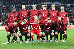 15.12.2011, AWD Arena, Hannover, GER, UEFA Europa League, GER, UEFA EL, Gruppe B, Hannover 96 (GER) vs FC Vorskla Poltava (UKR), im Bild Team Hannover 96 // during the Europa Leaque football match Hannover 96 (GER) vs FC Vorskla Poltava (UKR), group b, at AWD Arena,  Hannover, GER, on 2011/12/15. EXPA Pictures © 2011, PhotoCredit: EXPA/ nph/ SielskiSielski..***** ATTENTION - OUT OF GER, CRO *****