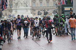 Team Sunweb riders celebrate after the Prudential Ride London Classique - a 66 km road race, starting and finishing in London on July 29, 2017, in London, United Kingdom. (Photo by Balint Hamvas/Velofocus.com)